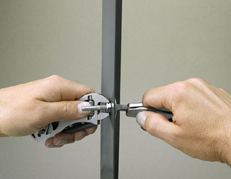 Use each handle to tighten nuts and bolts from each side